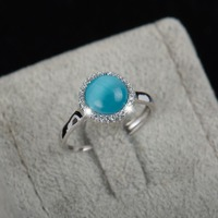 2016 New Fashion Adjustable Top Quality Jewelry Natural Opal Topaz Rings 925 Sterling Silver Ring For