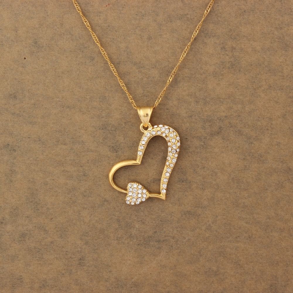 zoom tiny heart fullxfull real listing necklace il gold solid