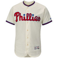 MLB Men's Philadelphia Phillies Baseball Alternate Ivory Flex Base Authentic Collection Team Jersey