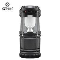 GT Lite Classic Style 6 LEDs Rechargeable Hand Lamp Collapsible Solar Camping Lantern Tent Lights For