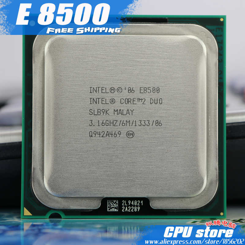Intel Core 2 Duo E8500 CPU Processor (3.16Ghz/ 6M /1333GHz) Dual-Core Socket 775 (working 100% Free Shipping)  sell E8400 E8600