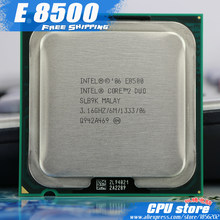 Intel Core 2 Duo E8500 CPU Processor (3.16 GHz/6 M/1333 GHz) dual-Core Socket 775 (Bekerja 100% Gratis Pengiriman) E8400 E8600(China)