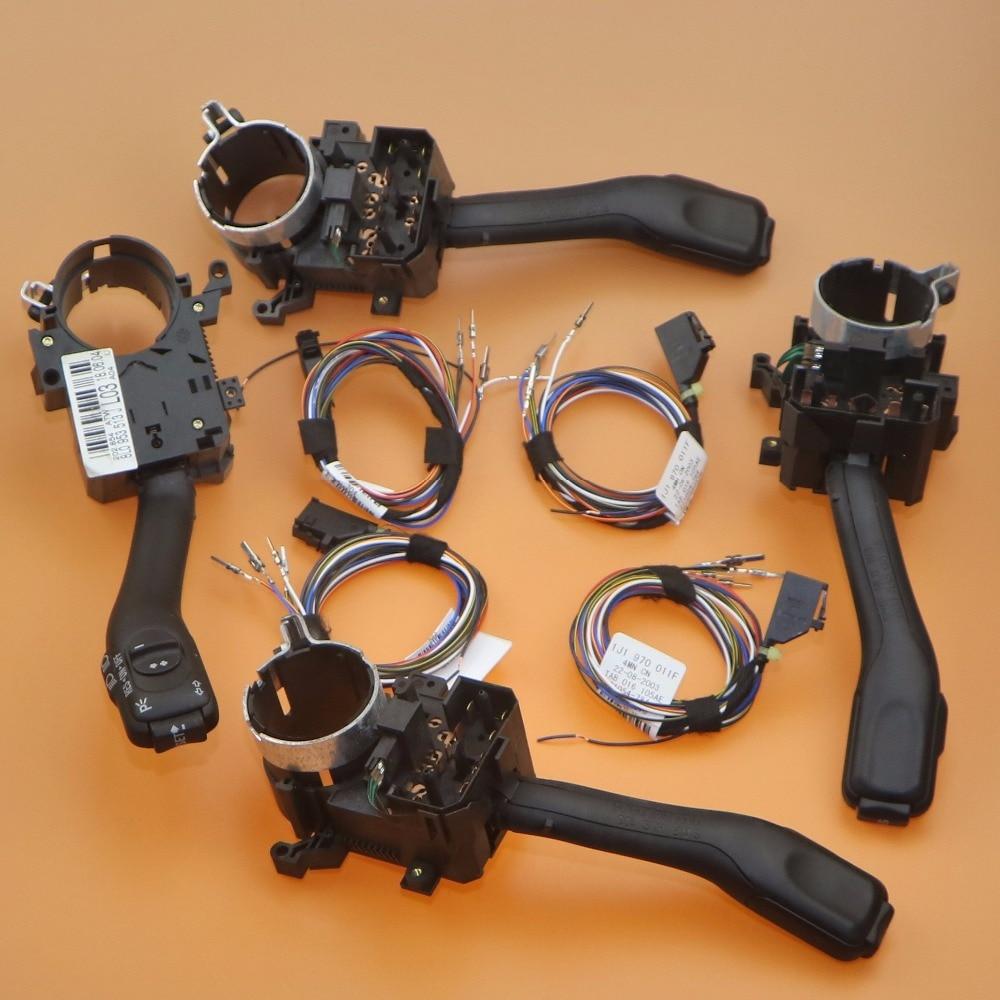 4 x Cruise Control Turn Signal Switch Stalk Cable Set Fit A3 A6 C5 Allroad TT RS6 Fabia Octavia Leon 8L0 953 513 J 1J1 970 011 F