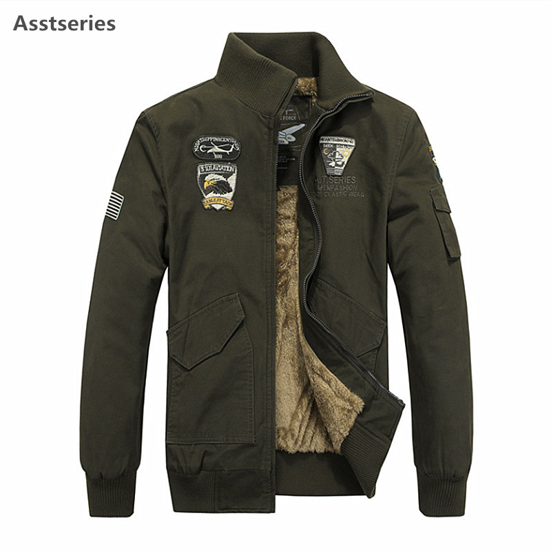 MA1 Air Force One Cotton Padded Jacket Military Casual Mens Big Size Plus Fat Pilot Jacket Coat Jacket Thicker Cotton Asstseries