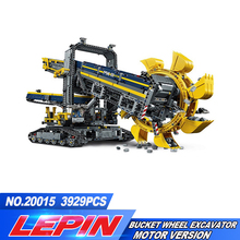 Лепин 20015 техника серии ведро колесный экскаватор модель Сборка строительный Блоки кирпич Совместимость с 42055