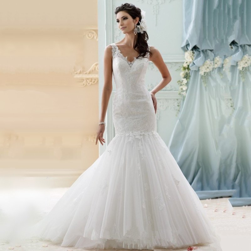 Backless Wedding Gowns For Sale: Romantic Mermaid Wedding Dresses 2015 Hot Sale Lace