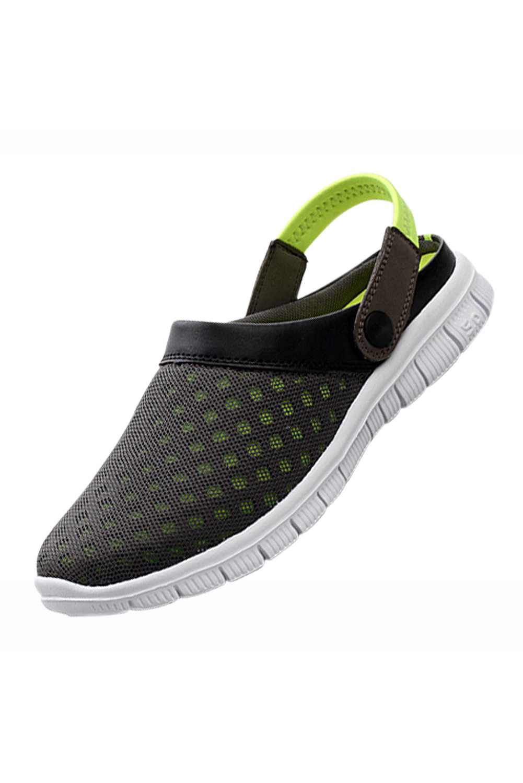2018 Men Sandals Summer Slippers Shoes Croc fashion beach Sandals Casual Flat Slip On Flip Flops Men Hollow Shoes