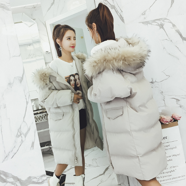 2017 Solid Woven Women Coat Bread Parkas Winter Regular Warm Ladies Jacket With Long Sleeves Faux Fur Large Pockets democracy women s mineral wash shark bite woven with roll tab sleeves