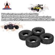 4Pcs AUSTAR AX-5020 1.9 Inch 120mm Rock Crawler Banden voor 1/10 Traxxas Redcat SCX10 AXIALE RC4WD TF2 RC Auto(China)
