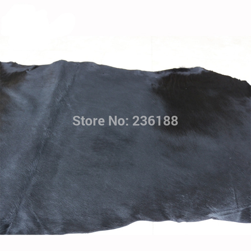 Weiche schwarze echte Kalb-Haar-Leder-Haut für Kissen / - Kunst, Handwerk und Nähen - Foto 6