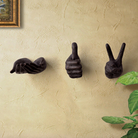 Europe Restoring Ancient Hands Hook Wall Motivational Gestures Hanging Creative Household Adornment Metope Porch Wall Act Role