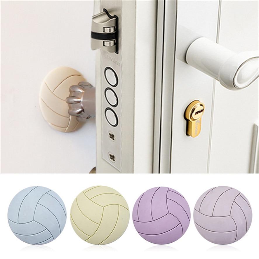 New Rubber Door Wall Protector Pad 1PC Home Door Doorknob Back Wall Protector Savior Shockproof Crash Pad Furniture Accessories