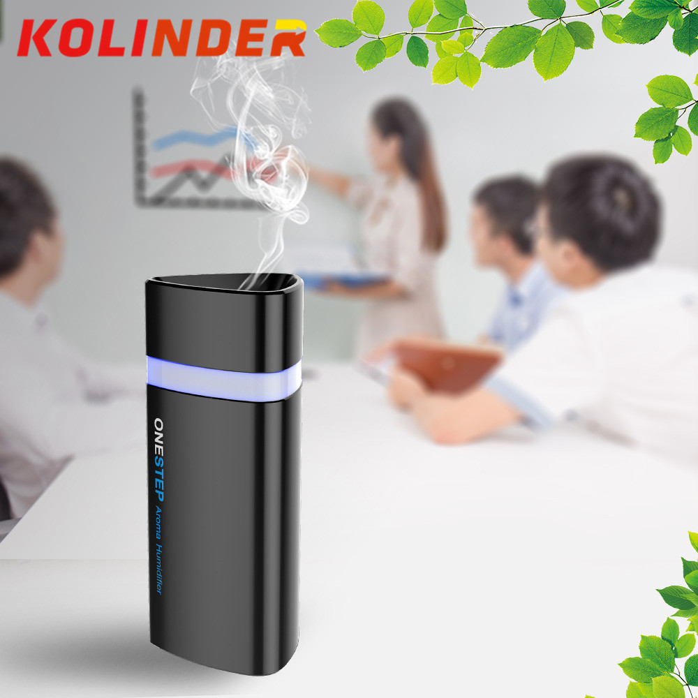 280ML Car USB humidifier led aromatherapy diffuser perfume air mist maker blue led light auto essential