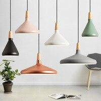 Modern Led Pendant Lamp Aluminum Lampshade Nordic Round Hanging Light Fixuture Suspension Lights Dining Room Cafe Restaurant Bar