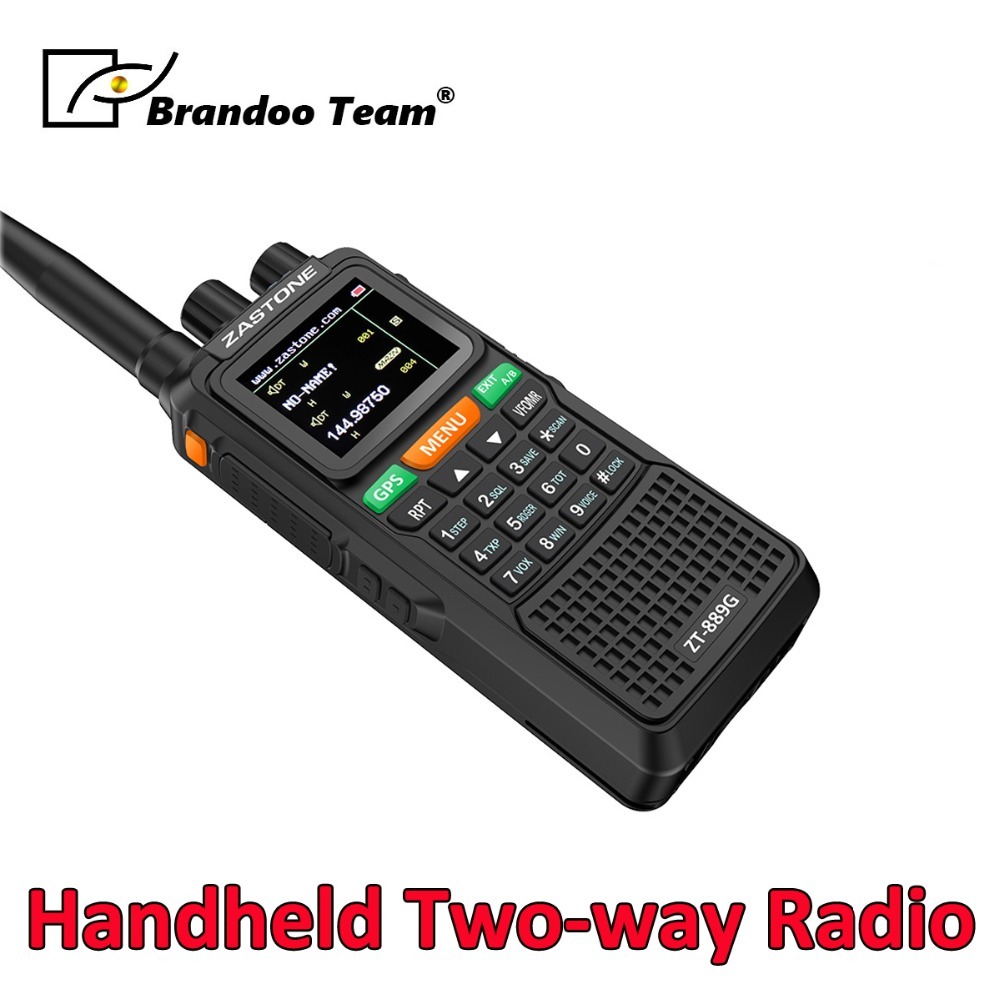 Türsprechstelle RüCksichtsvoll Handheld Zwei Way Radio Portable Dual Band Radio Gps Sos Walkie Talkie 10 W 3000 Mah Vhf Radio