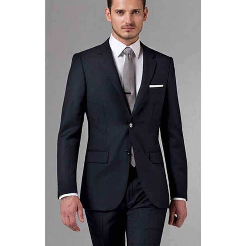38 Groom Suits 2016 Wedding Mens Black Suit Mens Suits with Pants Real Pictures Mens White Suits for Weddings (Jacket+Pants)