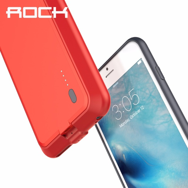 d4cffd9532 ROCK P2 Power Case for iPhone 6 plus/ 6s plus 2800 mAh Emergency Backup  External Battery Charger Case for iPhone 6s plus/ 6plus