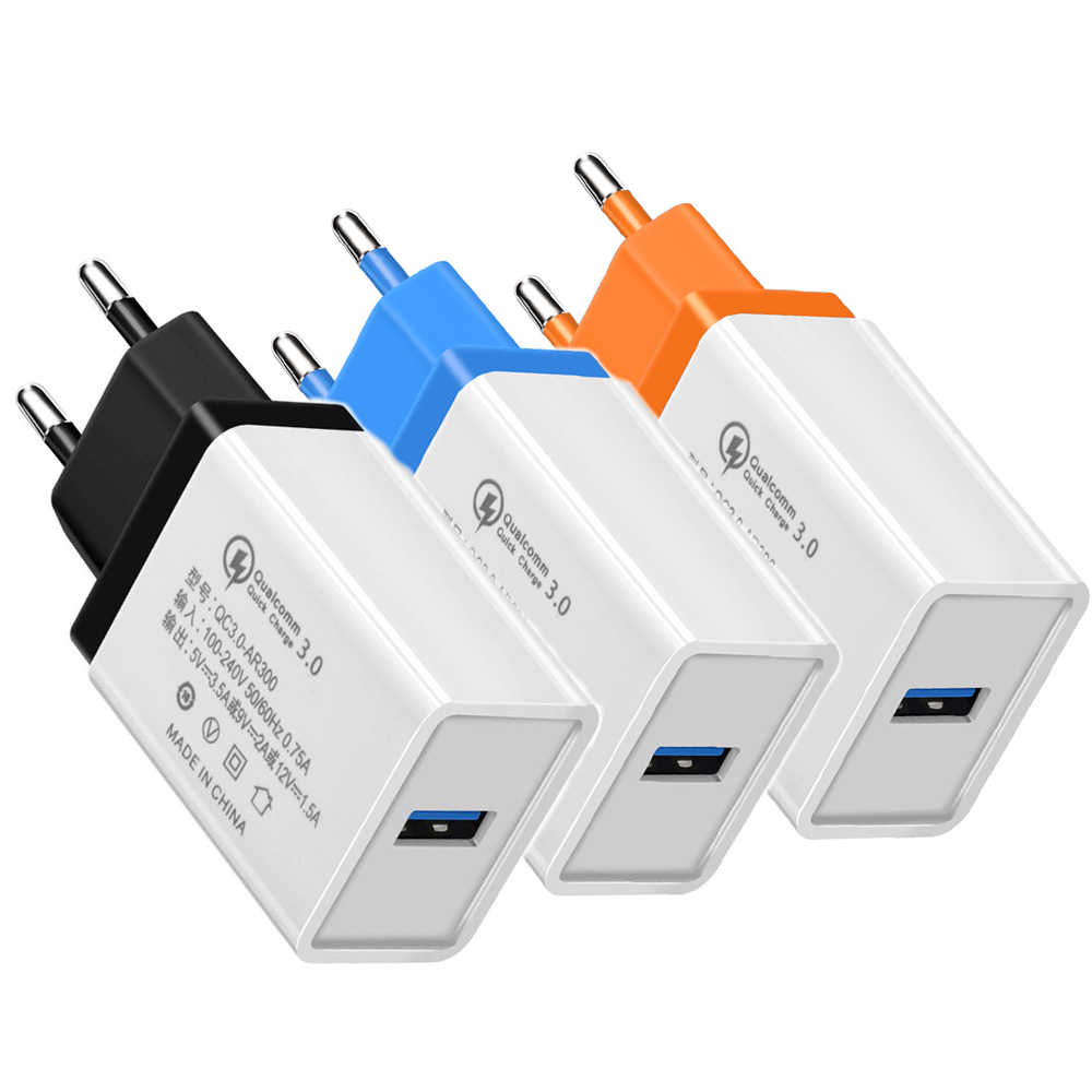 エッシェン QC3.0 USB 充電器壁の充電器携帯電話急速充電器 iPhone × 8 6s プラスサムスン Htc のスマートフォン