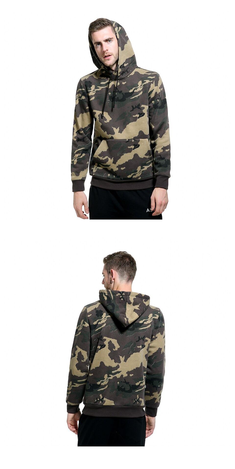 Großhandel Camo Hoodies Männer Tasche Mit Kapuze 2018 Herbst Winter Armee Grün Sweatshirt Herren Camouflage Fleece Hoodie Männlich Hip Hop Von