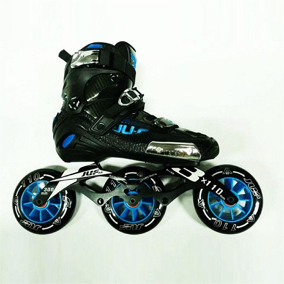 War Wolf patins de vitesse Semi-solft haute cheville rouleau chaussure en ligne Patines 3*110/4*100mm châssis pour la course de rue patinage gratuit F072