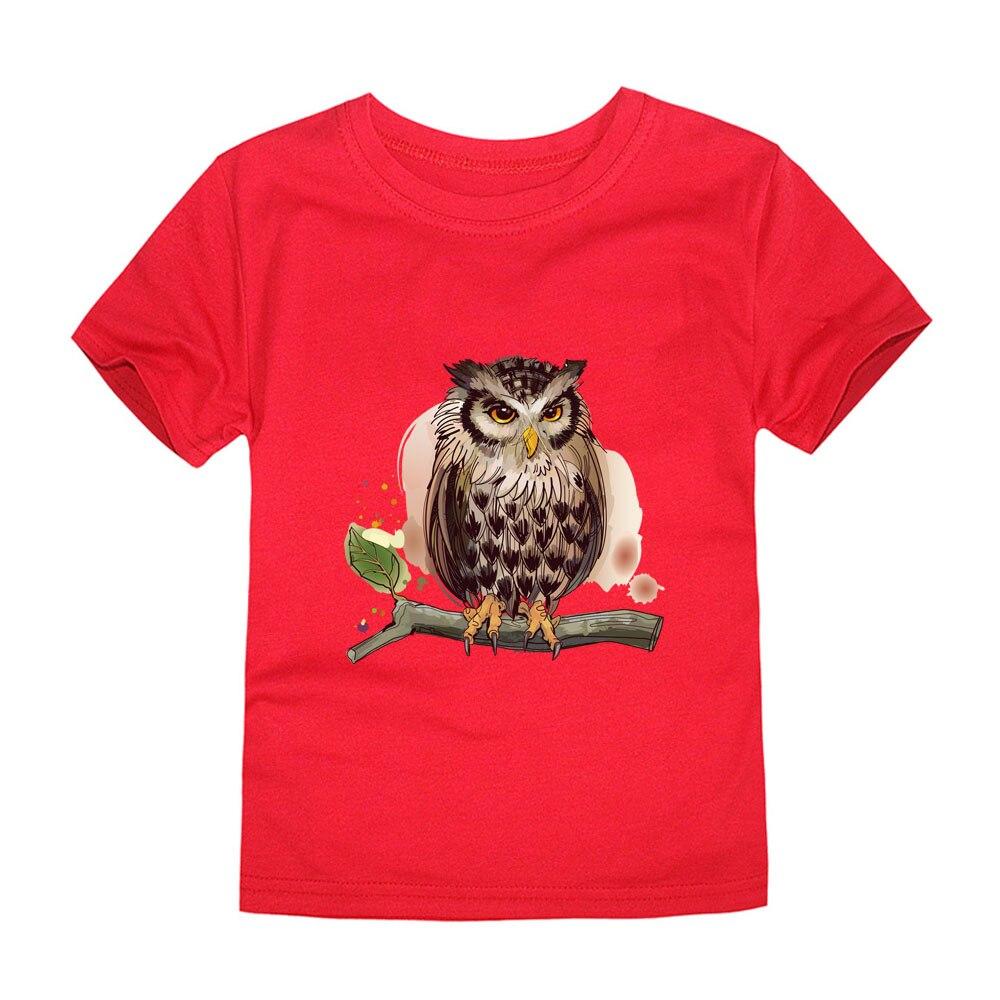 12 Farben Jungen Eule 3d T Shirts Kinder Kurzarm Baumwolle Tier T-shirt Jungen Tees Mädchen Sommer Kleidung Für 1-14 Jahre Zur Verbesserung Der Durchblutung