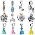 Wybeads marca silver charm cartoon fairy tale encantos colgante europeo apto pulseras y brazaletes accesorios de bricolaje joyas originales