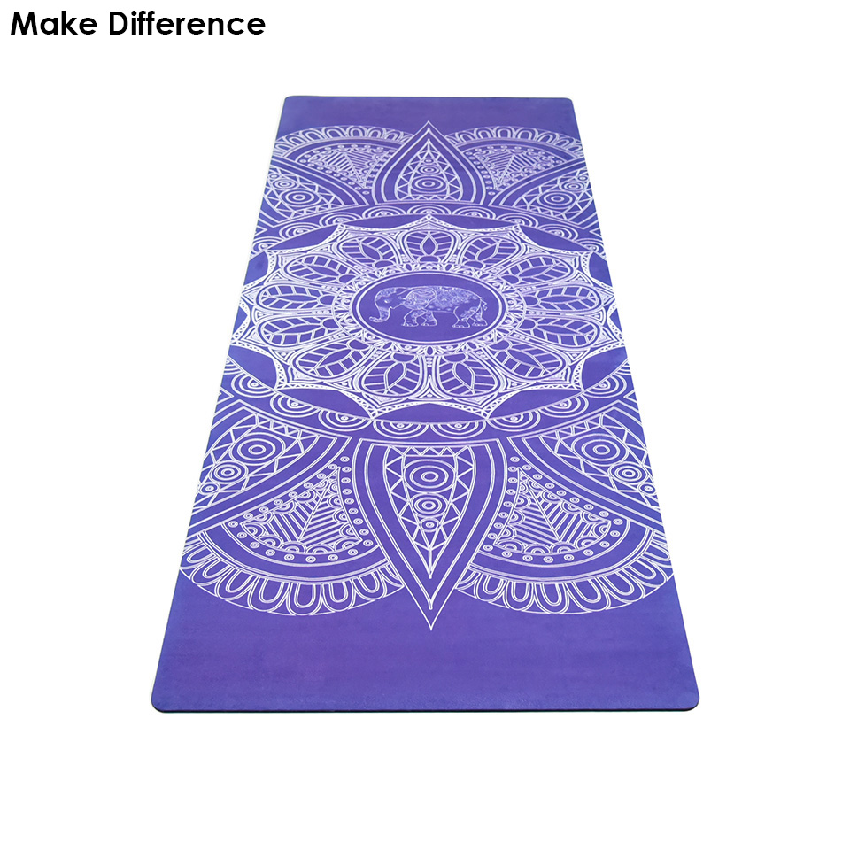 Make Difference Elephant Printed Natural Rubber Yoga Mat Carpet for Yoga Gym Mat Outdoor Hot Yoga Pilates Mats 183cm*61cm*3.5mm yoga pilates mat pu 5mm for beginners and seniors widened workout yoga pilates gym exercise fitness gym mat