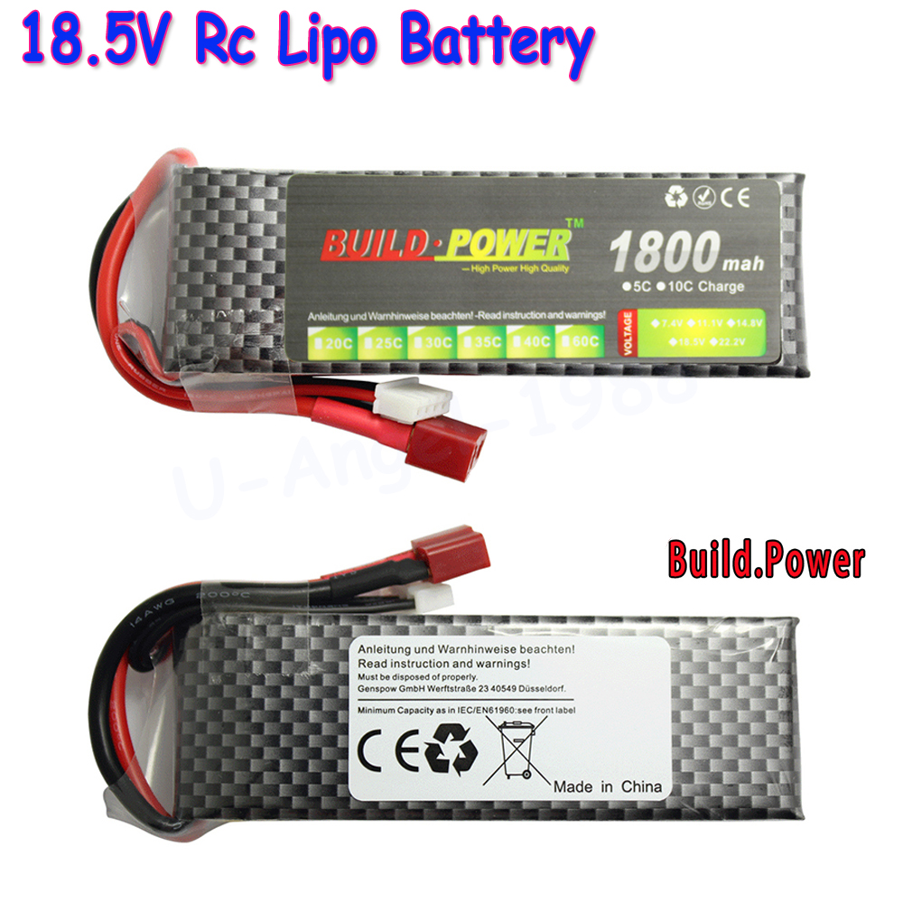Build Power Li-Polymer 5S Lipo Battery 18.5V 1100mah 1300mah 1500mAh 1800mah 2200mah 2600mah Max 50C for RC Car Boat Quadcopter build power li polymer lipo battery 7 4v 1100mah 1300mah 1500mah 1800mah 2200mah 2600mah max 40c for rc car boat quadcopter fpv
