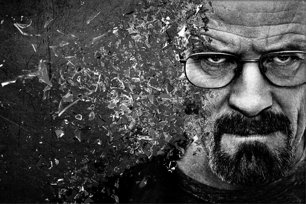 Free delivery Black and white large size Breaking Bad poster