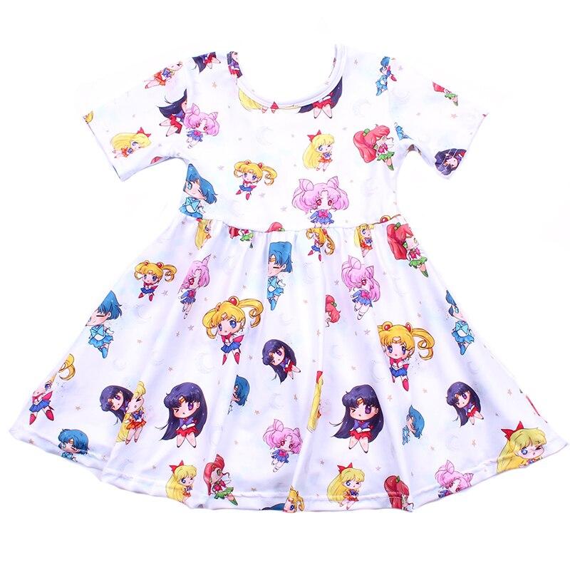 Waymine Toddler Kids Girl Cartoon Rabbit Print Short Sleeve T-Shirt Tops+Dot Skirt Set