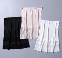 100% Silk Knit Lace Half Slip Nightdress Sleepwear Underskirt M L XL SG352