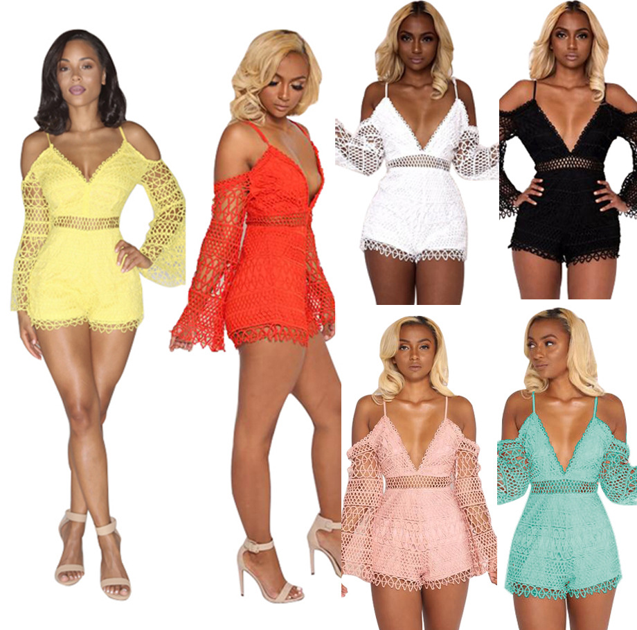 Body Bodysuit Women Rushed Polyester Plus Size Jumpsuits And Rompers For Women 2018 Sexy Nightclub Summer Lace Jumpsuit