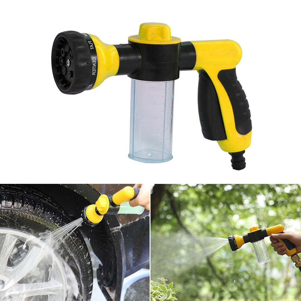 Multifunctio Foam Sprayer Garden Water Hose Foam Nozzle Soap Dispenser Gun for Car Washing Pets Shower Plants Watering(China)