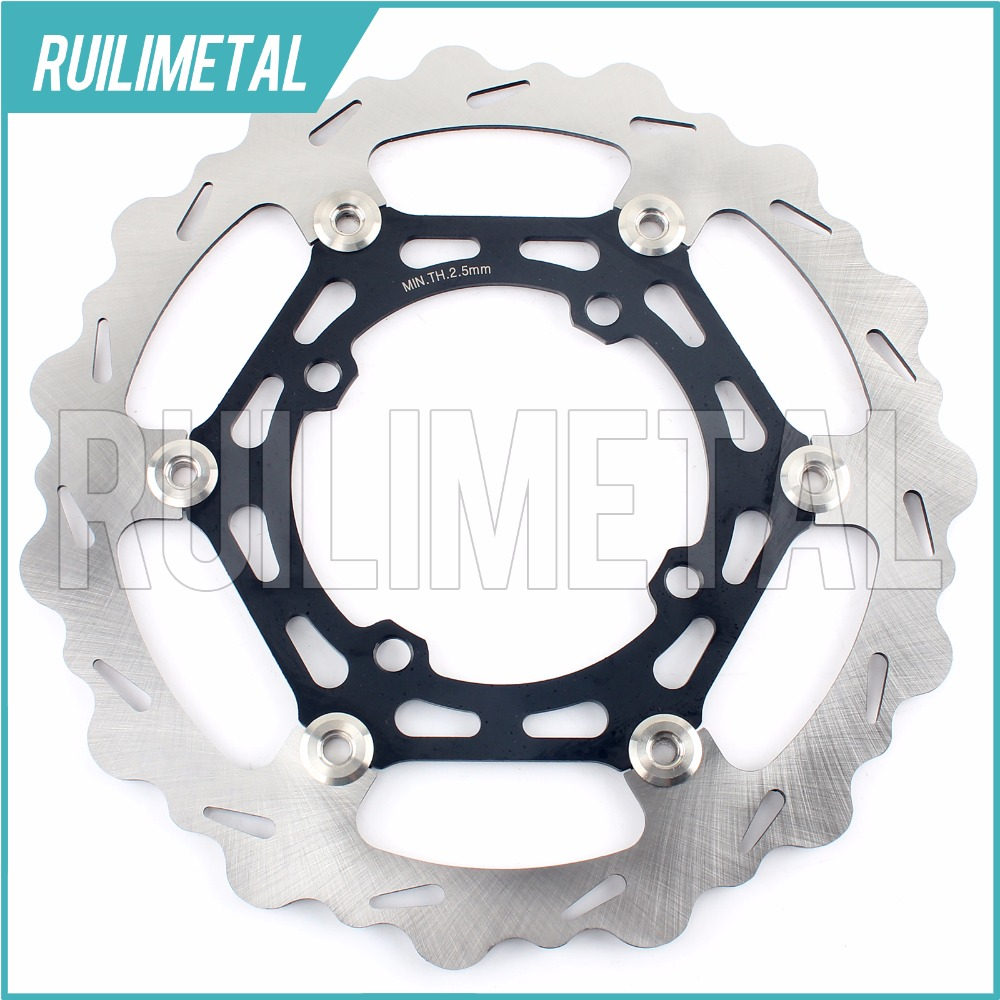 270mm oversize Front Brake Disc Rotor for KAWASAKI KX 125 2003 2004 2005 03 04 05 250 F 2004 2005 04 05 motorcycle part front rear brake disc rotor for yamaha yzf r6 2003 2004 2005 yzfr6 03 04 05 black color