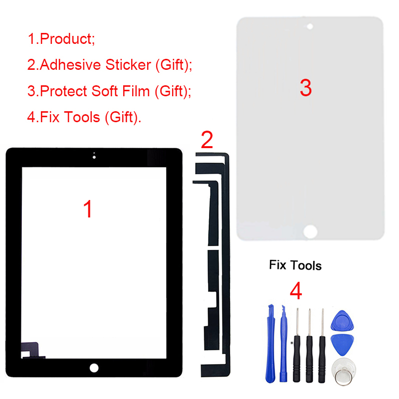 купить 1Pcs For iPad 2 2nd Gen A1395 A1396 A1397 9.7