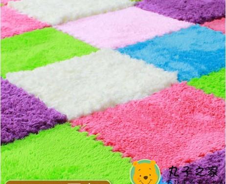 Foam mats 3030cm mattress baby soft climbing velvet patchwork