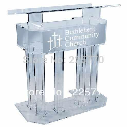 Kirche acryl podium/plexiglas podium/Acryl hohe grade Rednerpult/kirche kanzel