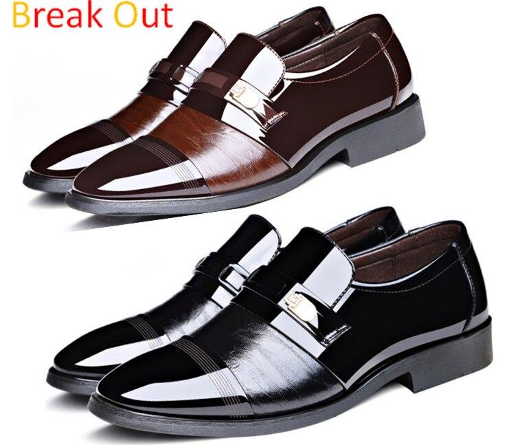 Salir de la Marca de Alta Calidad Zapatos de Cuero de Los Hombres, Zapato de La