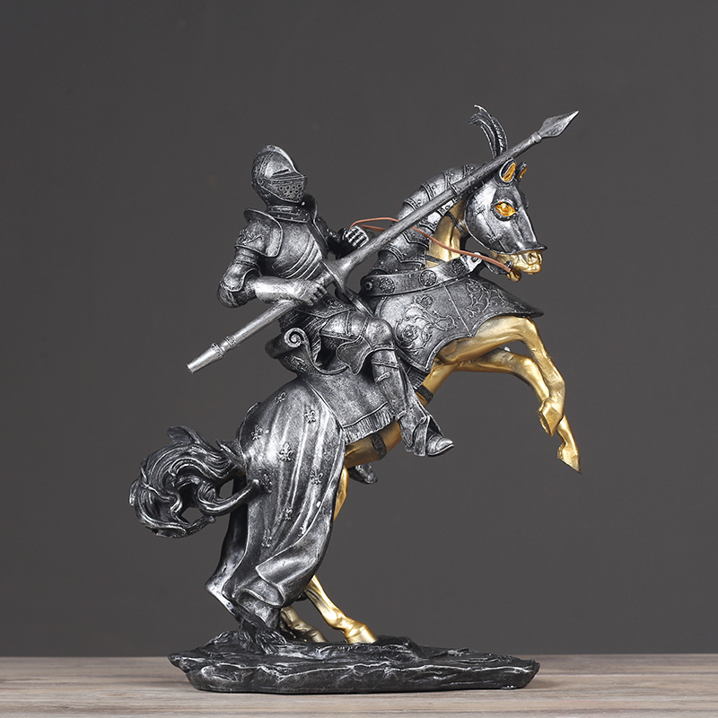Nordic riding samurai living room study model room decoration retro home office bar desktop jewelry furnishingsNordic riding samurai living room study model room decoration retro home office bar desktop jewelry furnishings
