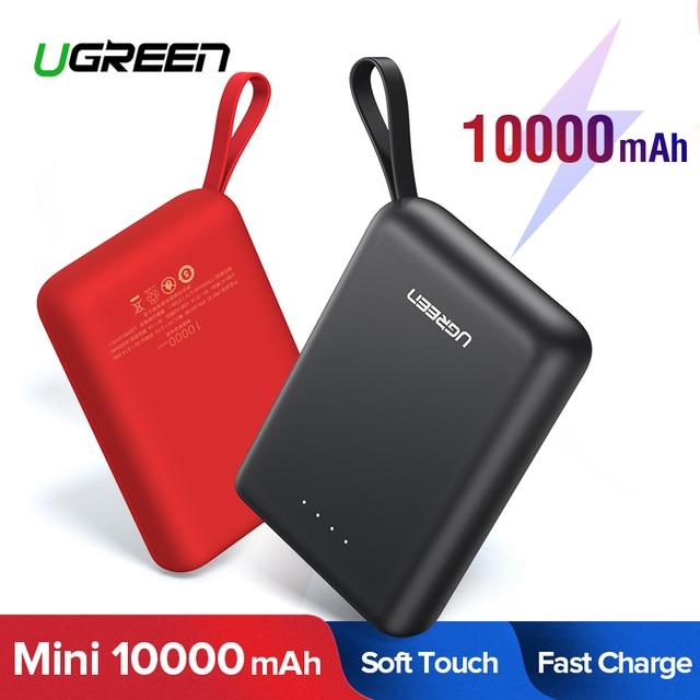 Banco de Potência para Xiaomi Ugreen Mini Pover Banco 10000mAh Externo Portátil Carregador de Bateria Do Telefone para o iphone X Huawei P20 poverBank