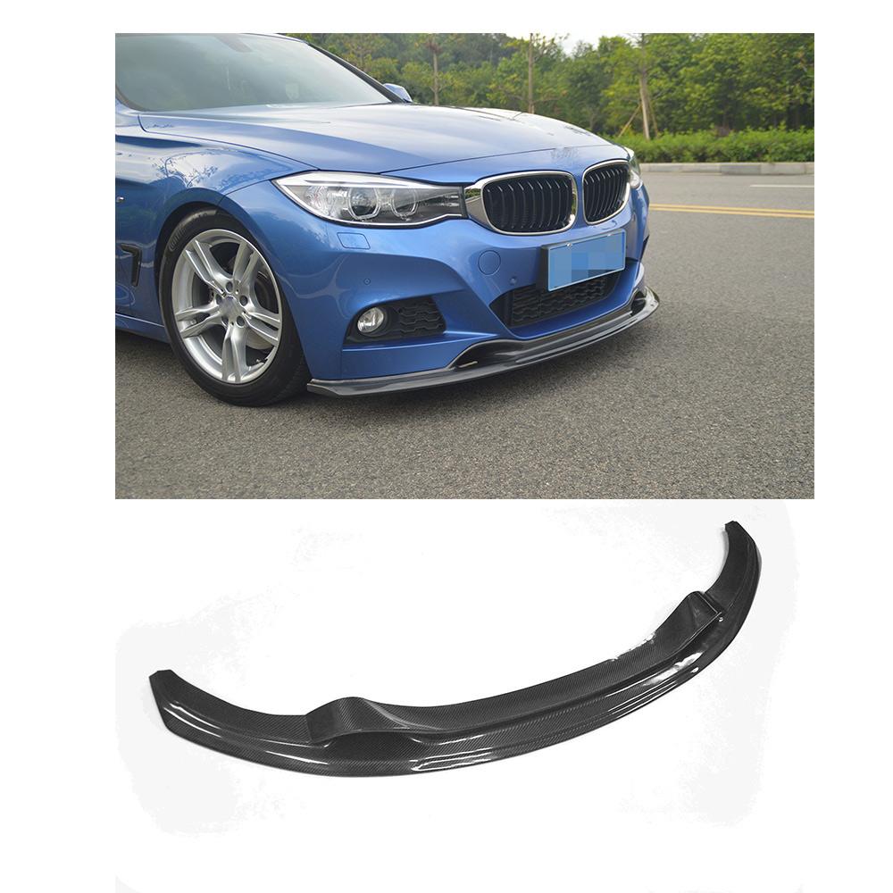 Carbon Fiber Front Bumper Lip Spoiler Chin For BMW 3