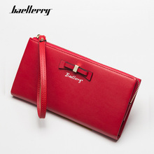 Baellerry 2019 Newest Fashion Wallets Women Leather Zipper Red Wallet Womens Long Design Purse Female More Color Clutch Bag