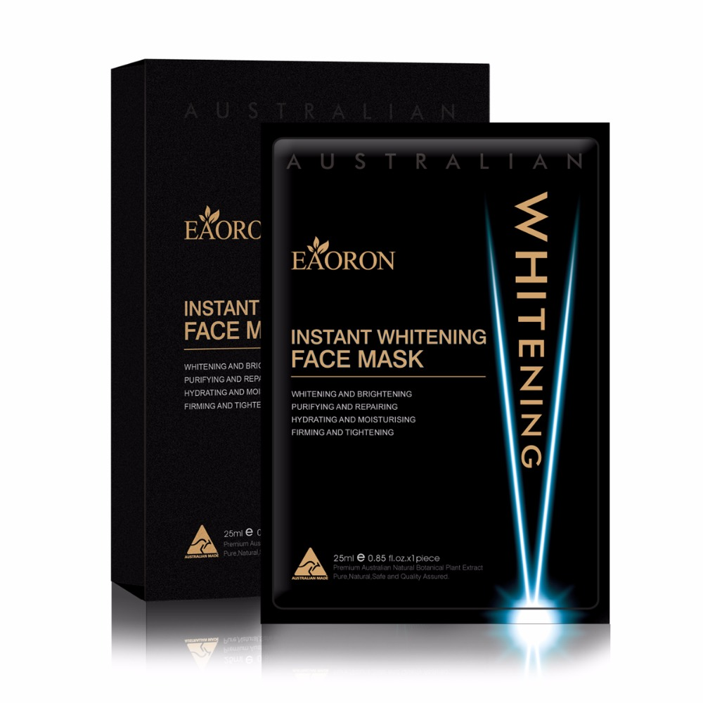 Eaoron Instant Whitening Face Mask 5PCS Australia Hottest Product Now Minimize dark spots Soothes out fine lines Healthy Skin