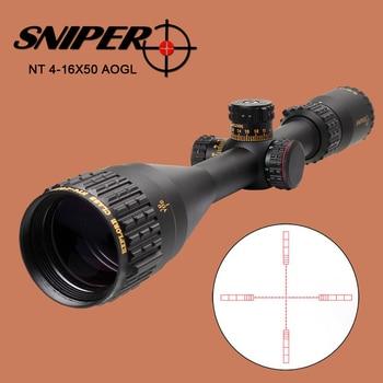 SNIPER NT 4-16X50 AOGL Riflescope Tactical Optical Sight Full Size Glass Etched Reticle RGB llluminate Hunting Rifle Scope