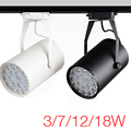 Free envio premium ac85-265v 3 w 7 w 12 w 18 w led faixa de luz da lâmpada led luzes holofotes ferroviário holofotes