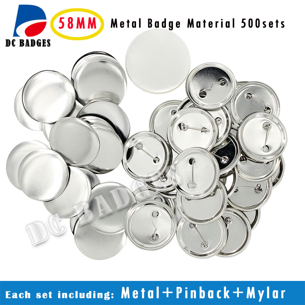Hot Sale Factory 2-1/4 58mm 500sets All Metal Pinback Badge Button Material Supplier пуховик liu jo w18420t0350 94010