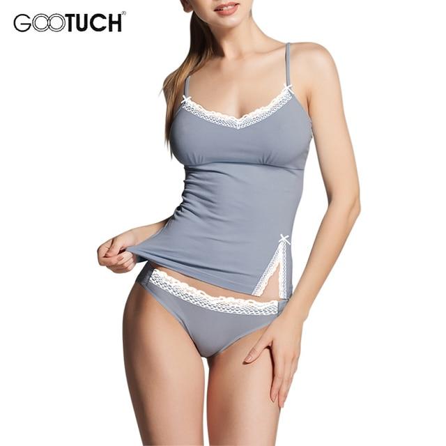 Womens cotton Pajama Sets Sleepwear Lace Trim Camis Top Sexy Lingerie Intimate Ladies Strap Nightwear Plus Size Piyamas 2526 2
