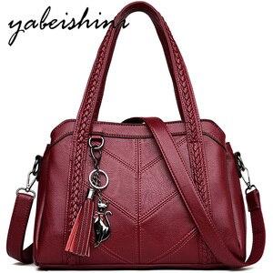 Image 1 - Модная женская сумка через плечо, сумки для женщин с кисточками, роскошные сумки, женские сумки, дизайнерские сумки, брендовые кожаные сумки через плечо