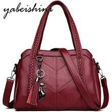 Mode frauen tasche über schulter taschen für frauen Quaste luxus handtaschen frauen taschen designer sac wichtigsten marke leder umhängetaschen