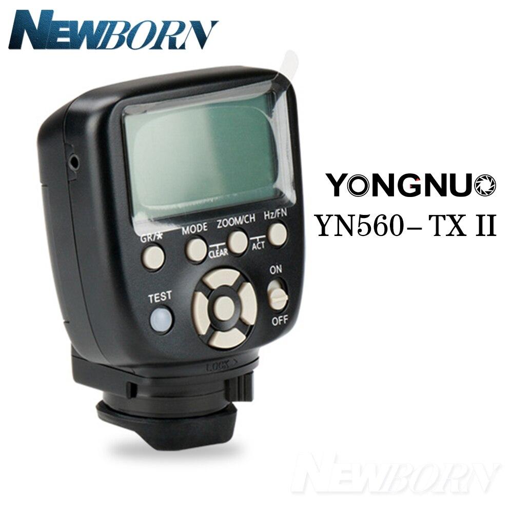 Newest Yongnuo YN560 TX II Flash Wireless Trigger Manual Flash Controller for Canon Nikon YN560IV YN660